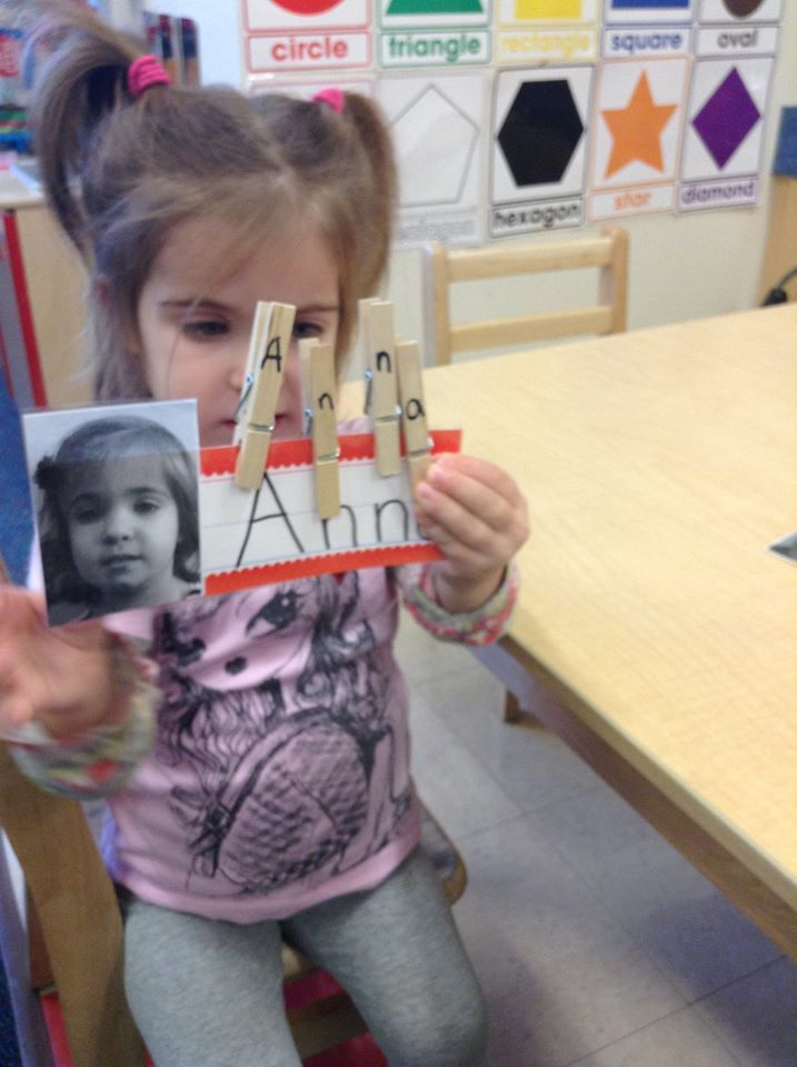 Our preschoolers are working on name and letter recognition!