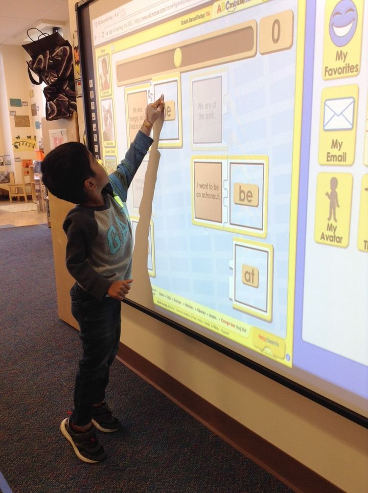 Another lesson at the SmartBoard!